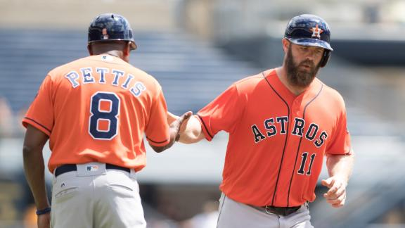 Gattis, Correa lead McHugh, Astros over Pirates