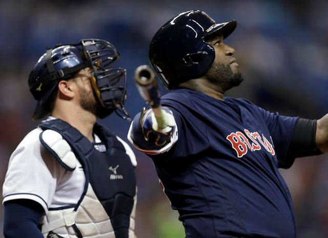 David Ortiz hits 2-run homer, Red Sox beat Rays 2-1