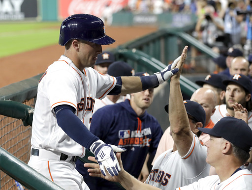 Bregman homers as Astros top Cubs 2-1 with 2-hitter