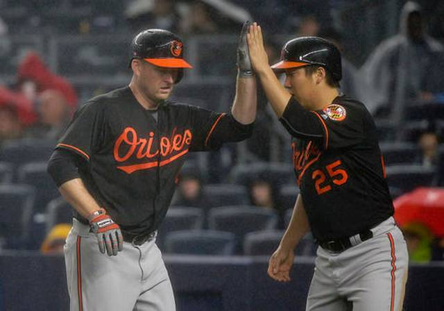 Trumbo hits 47th, Schoop 5 RBIs as Orioles top Yankees 8-1