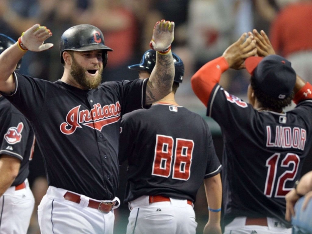 Napoli drives in 4 runs as Indians throttle Tigers 11-4
