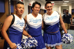 Dodgers rookies walked around the streets of New York dressed as cheerleaders