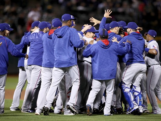 Rangers clinch AL West with 3-0 win over Oakland