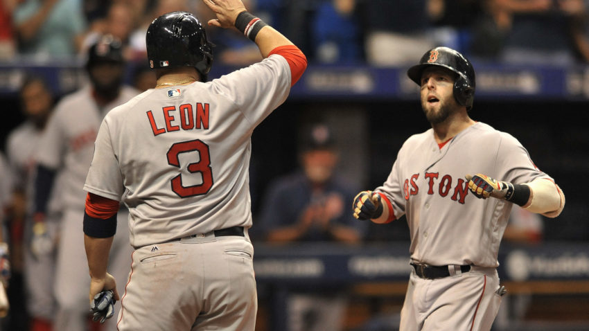 Pedroia hits slam, Porcello gets 22nd win, Red Sox beat Rays