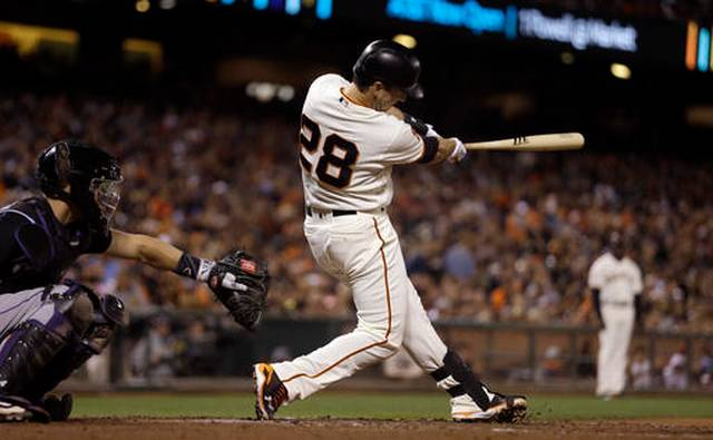 Posey, Pence homer as Giants beat Rockies 12-3