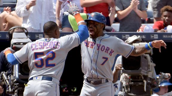 Cespedes, Lugo lead Mets to 10-3 win over Braves