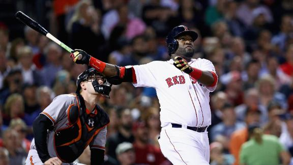 Ortiz hits 536th HR to tie Mantle, Red Sox beat Orioles 12-2