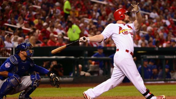 Moss, Diaz hit home runs, Cardinals stall Cubs with 4-2 win