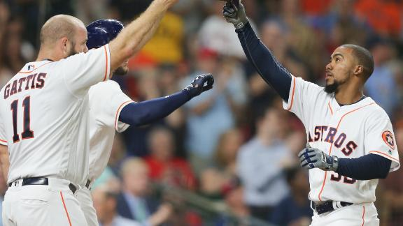 Altuve and Bregman injured, but Astros beat Rangers 8-4