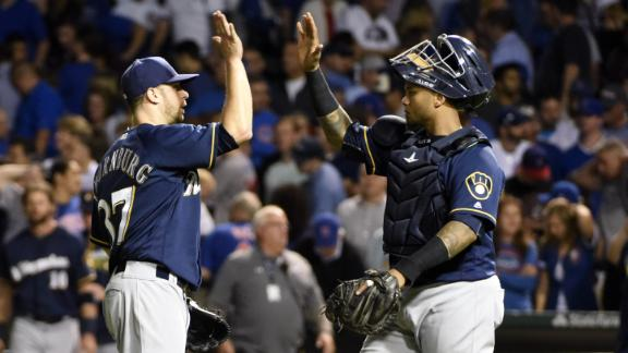 Brewers crash Cubs party with 5-4 win at Wrigley Field