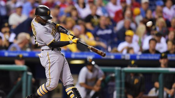 McCutchen hits 2 of Pirates' 5 homers in 15-2 win over Phils