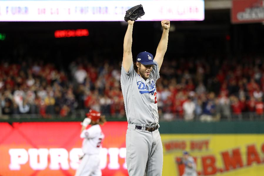 Kershaw gets save, Dodgers top Nats 4-3 to win NLDS