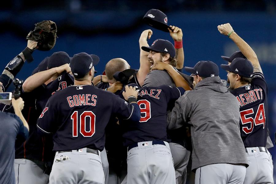 Indians shut out Blue Jays, advance to first World Series since 1997