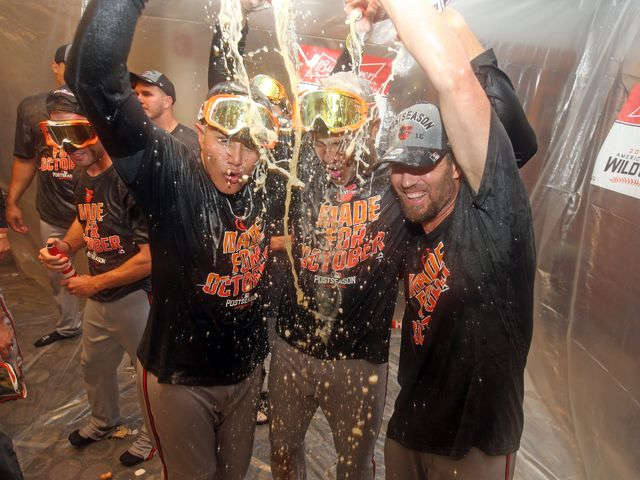 Kevin Gausman, Matt Wieters help lead O's to win, playoff berth