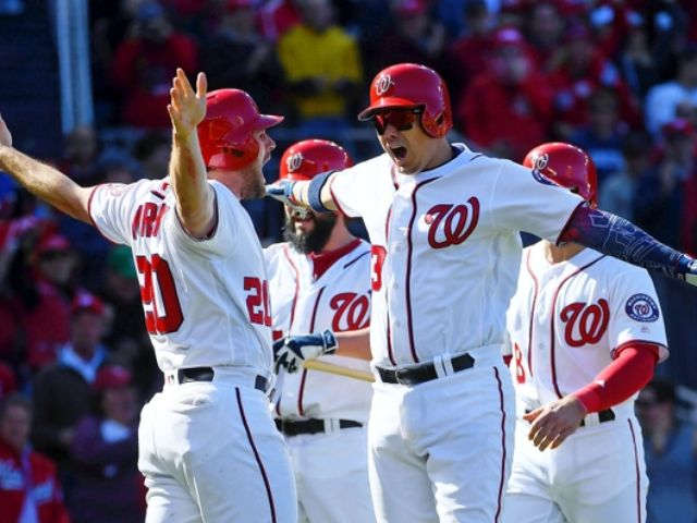 Lobaton's HR, Murphy's RBIs lift Nats past LA 5-2; NLDS tied