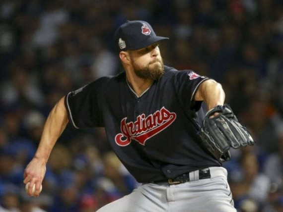 Kluber, Indians beat Cubs 7-2, now lead World Series 3-1
