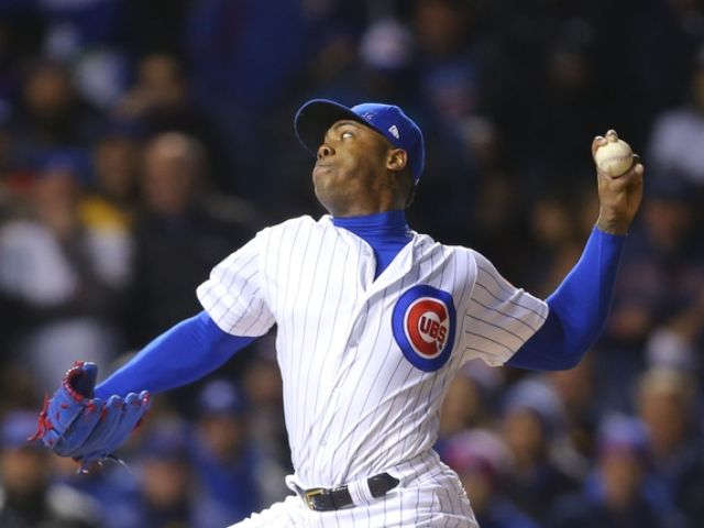 Chapman, Cubs stop Indians, cut World Series deficit to 3-2