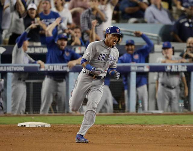 Cubs homer twice in 10-2 win over Dodgers; tie NLCS 2-2