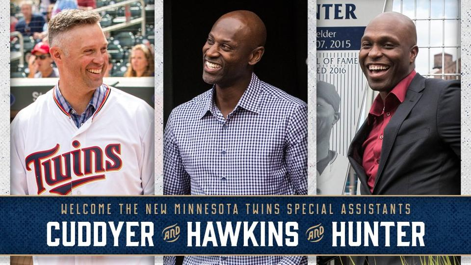 Twins hire former stars Torii Hunter, LaTroy Hawkins and Michael Cuddyer as special assistants
