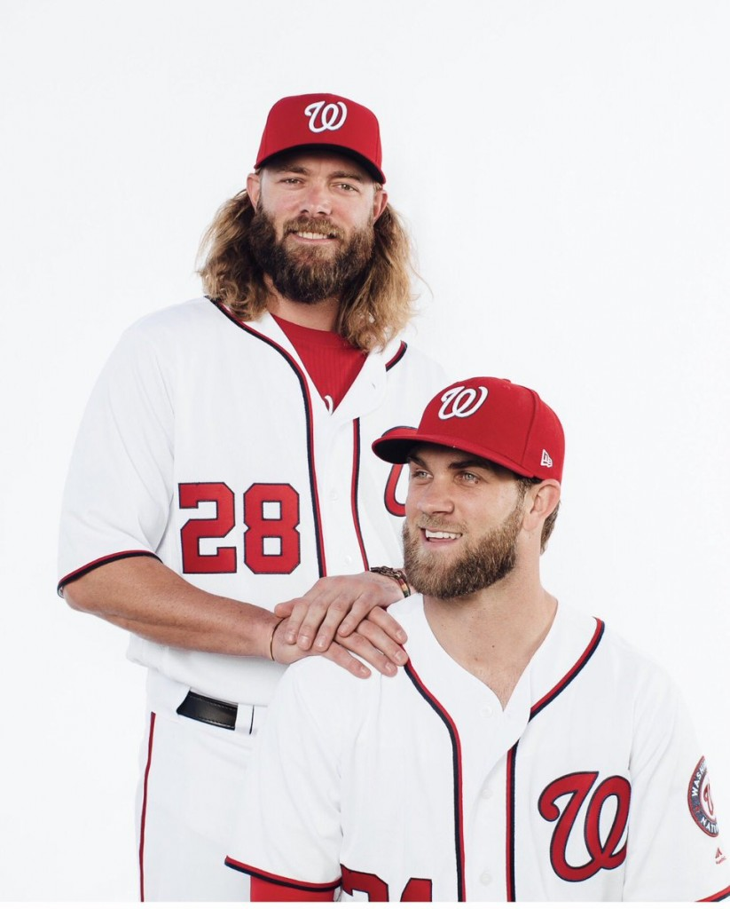Bryce Harper and Jayson Werth recreated the 'Step Brothers' poster at Nats Photo Day