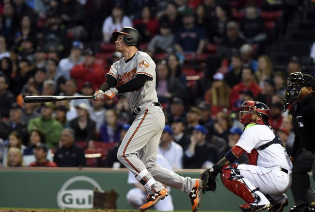 Mancini hits 2 of Orioles' 5 HRs in 12-5 win over Red Sox