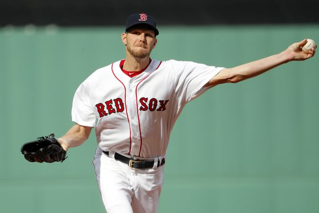 Sale gets 1st win with Red Sox; Moreland homers in 2-1 win