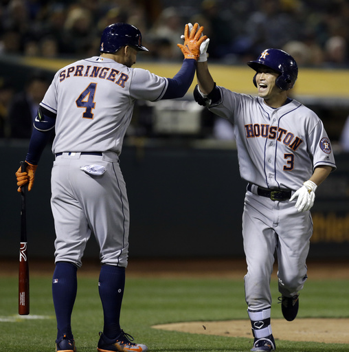 Aoki homers, drives in 2 runs as Astros beat A's 7-2