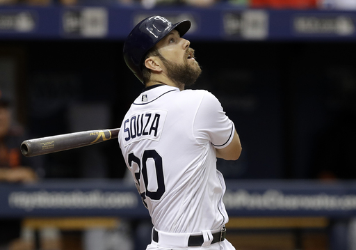 Souza has 3 hits, Rays sweep Tigers with 8-1 win