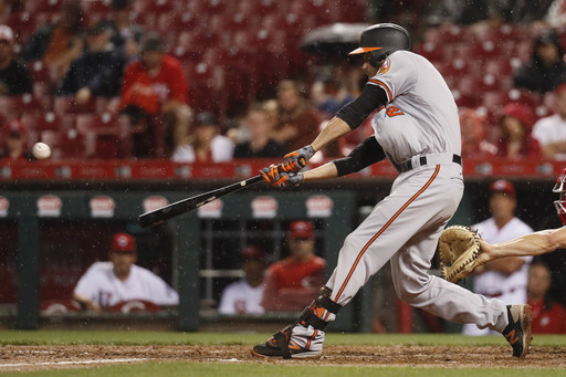 Orioles' Hardy singles in 10th for 2-1 win over Reds