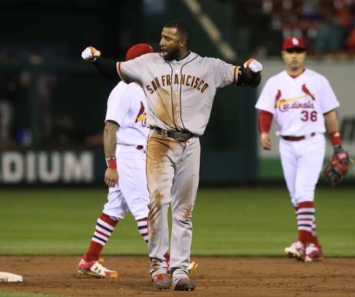 Giants rally to beat Cardinals 6-5