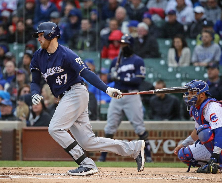 Bandy leads surging Brewers to 6-3 victory over Cubs
