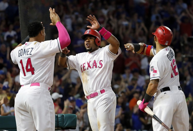 Rangers rally earlier for 5th straight win, 6-5 over A's