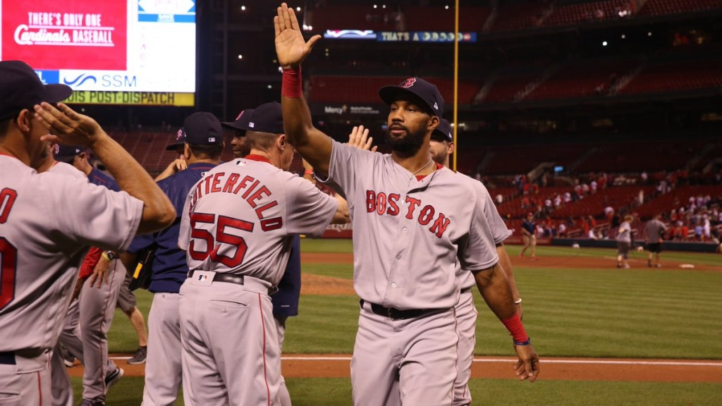 Young's pinch-hit single lifts Red Sox over Cardinals in 13