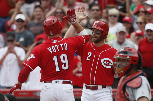 Votto leads Reds to 5-2 win, 4-game sweep of Cardinals