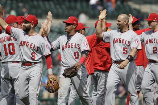 Angels pull away and pound Tigers 11-4 and win series