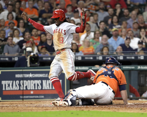 Maybin's return sparks Angels to 9-4 win over Astros
