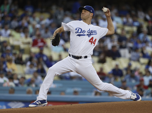 Hill, Maeda combine to five-hit Reds in Dodgers' 7-2 win