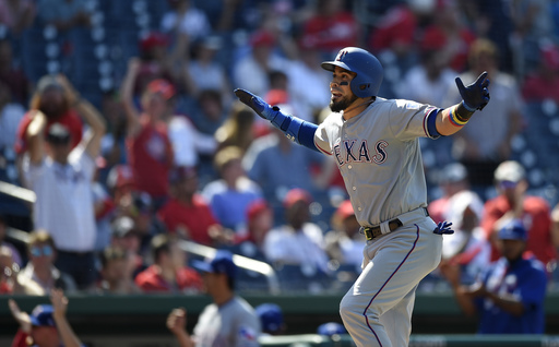 Chirinos' 3-run HR in 11th lifts Rangers past Nationals 6-3