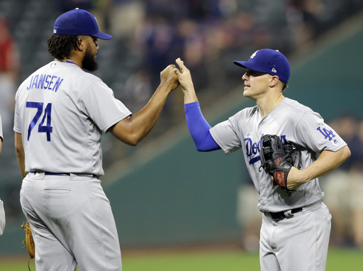 Hernandez hits home run off Miller, Dodgers beat Indians 6-4