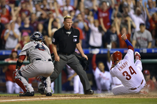 Kelly's pinch-hit leads Phillies past Sale, Red Sox 1-0