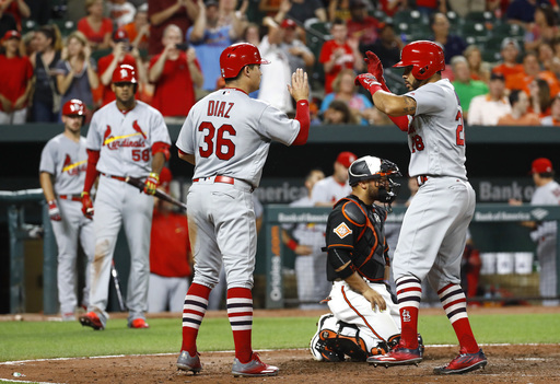 Cardinals bash 5 HRs in 11-2 rout of sinking Orioles