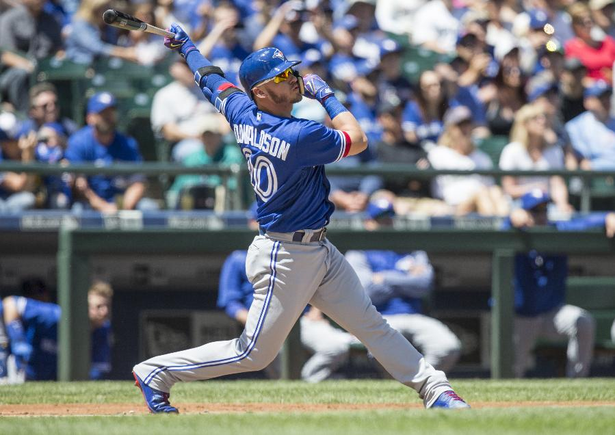 Donaldson's homer leads Blue Jays to 4-0 win over Mariners