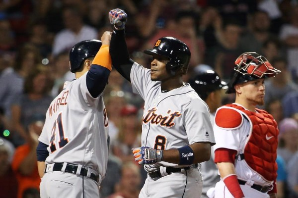 Upton's slam helps Tigers avert sweep; win 8-3 over Red Sox
