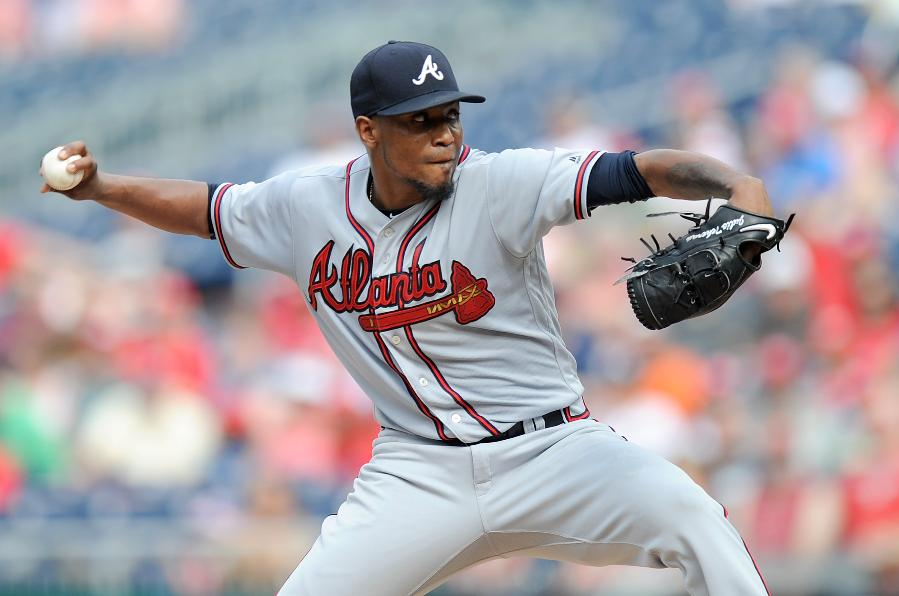 Teheran leads Braves to rare series win at Nationals