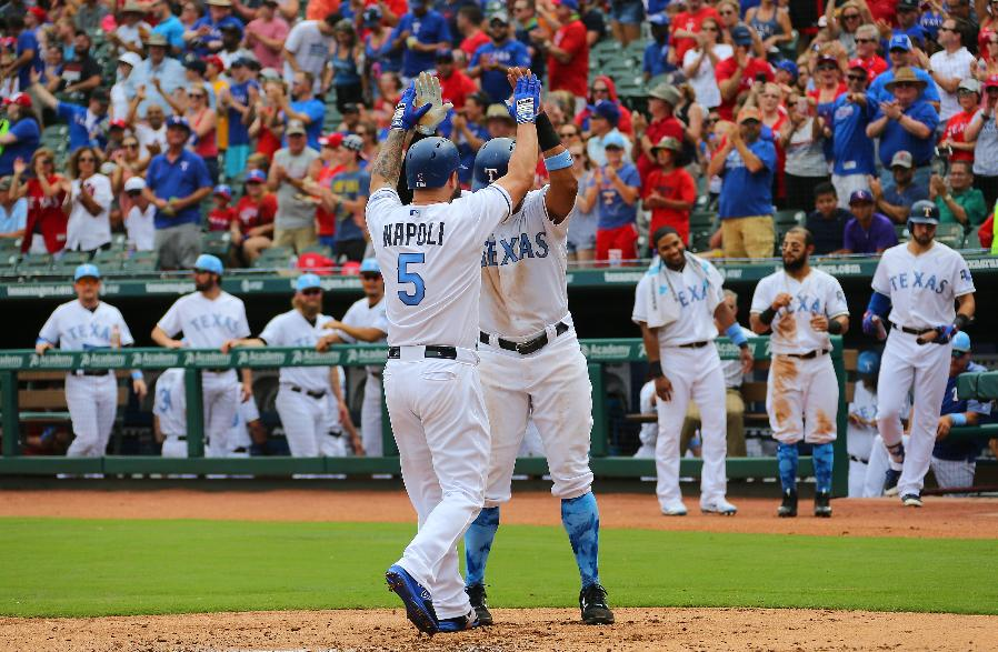 Napoli hits 2 of Rangers' 4 homers in 10-4 win over Mariners