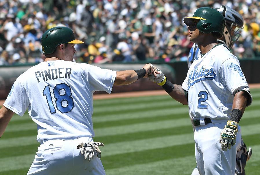 Khris Davis 2-run homer leads Athletics to sweep of Yankees