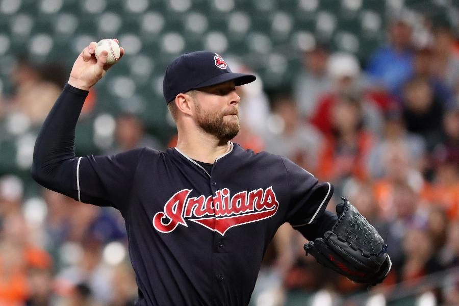 Kluber fires 3-hitter as Indians blank Orioles 12-0