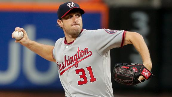 Scherzer strikes out 10, leads Nats over Mets 7-2
