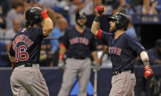 Pedroia, Bradley Jr., Ramirez homer, Red Sox beat Rays 8-3
