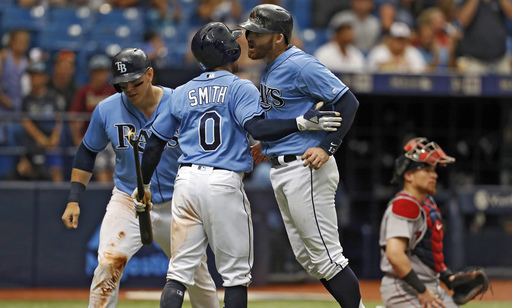 Miller homers in 8th, Rays take 3 of 4 from Red Sox
